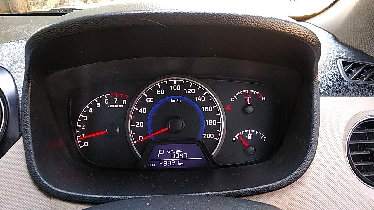 Spinny Assured Hyundai Grand i10 odometer