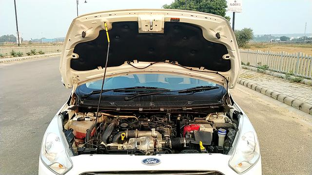 ENGINE & BONNET OPEN FRONT VIEW